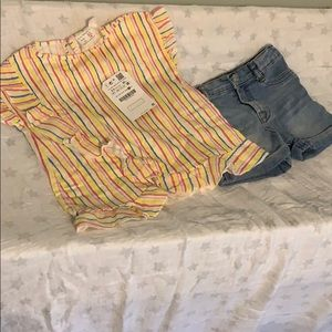 Toddler girl Top & Short Set - NWT